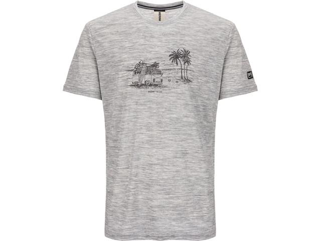 info for 8fa2e 41de2 super.natural Graphic T-Shirt Herren ash melange/killer khaki beach print